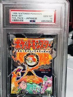 1996 Japanese Pokemon Base Set 291 Yen Booster Pack Gem Mint Psa 10 Sealed