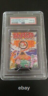 1996 Pokemon Japanese Base Set Booster Pack 291 Yen- Factory Sealed- PSA 10