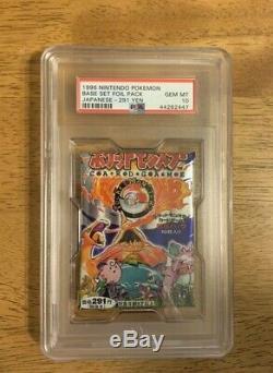 1996 Pokemon Japanese Base Set Booster Pack PSA 10 Gem Mint 291 Yen