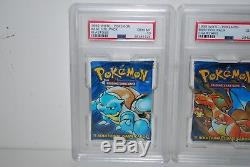 1999 Pokemon English Base Set 1 PSA 10 Gem Mint Graded Booster Pack Set