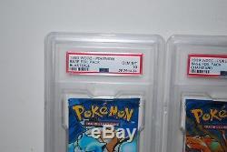 1999 Pokemon English Base Set 1 PSA 10 Graded Booster Pack Set