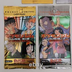 5 Pokemon Japanese 1996 Card Pack Set Fossil Rocket Gym Heroes Challenge Jungle