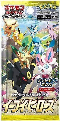 Eevee Heroes s6a Pokemon Card Sword Shield Booster Box IN HAND