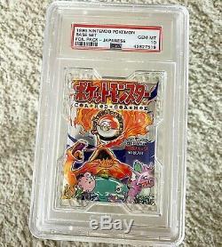 Japanese Pokemon Base Set Booster Foil Pack PSA 10 Gem Mint 1996 291 Yen Ver