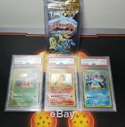 Japanese Pokemon Neo 1 Booster + PSA 10 Starters