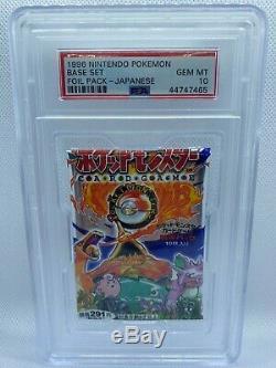 PSA 10 1996 Pokemon Base Japanese Booster Pack Factory Sealed
