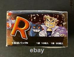 Pokemon 1997 Boosters Box Team Rocket Japanese Factory Sealed