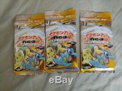 Pokemon 1999 Neo Genesis! SEALED! Booster 3 Packs Japanese