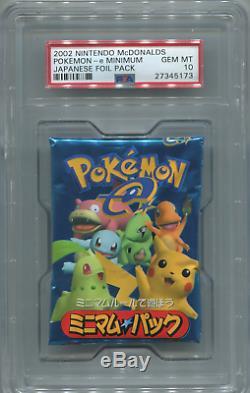 Pokemon 2002 Nintendo McDonalds e Minimum Japanese Booster Pack PSA GEM MINT 10