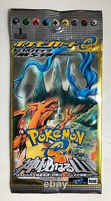 Pokemon Card 1st Edition Mysterious Mountain Sealed e Booster Pack 2001