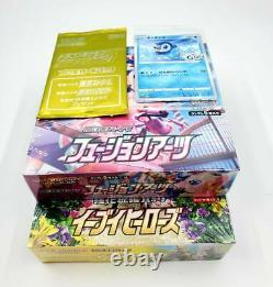 Pokemon Card Game Sword & Shield Fusion Arts Mew Box & Eevee Heroes Box 2 Promo