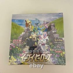 Pokemon Card Sword & Shield Booster Box Eevee Heroes Japanese