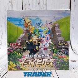 Pokemon Card Sword & Shield Eevee Heroes Booster Box s6a Japanese Ver. FASTSHIP