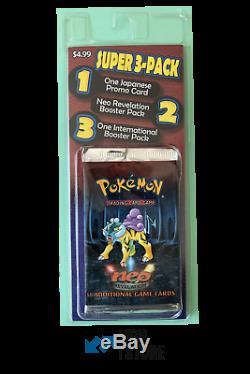 Pokemon International Neo Revelation Booster pack + Japanese promo card + Jungle