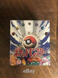 Pokemon Japanese 1996 Base Set Starter Deck Set SEALED New Booster Box