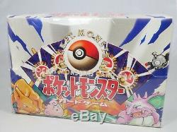 Pokemon Japanese Base Set Booster Box Factory Sealed 1996 Has Small Rip On Side