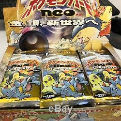 Pokemon Japanese Neo Genesis Booster Pack (Sealed pull from Box) GUARANTEE HOLO