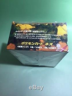 Pokemon Neo 2 Booster EMPTY Box Japanese Edition from 2002 With 60 packs