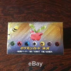 Pokemon Neo Genesis Booster Box Japanese Edition Gold Silver New World 2000