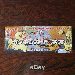 Pokemon Neo Genesis Booster Box Japanese Edition Gold Silver New World 2000