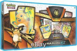 Pokemon Shining Legends Raichu GX Collection Box and Japanese SM3+ Booster Box