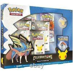 Pokemon TCG Celebrations Zacian LV. X Box Deluxe Pin Collection Sealed Case of 6