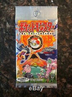Pokemon Trading Card game Japanese base set booster pack sealed pokemon cards