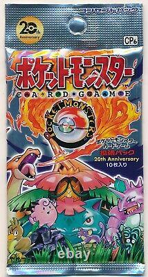 Pokemon XY Break CP6 20th Anniversary 1st Booster 1 Pack Sealed Japanese Card