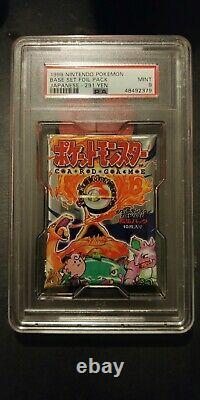 Vintage Pokemon 1996 Japanese Base Booster Pack PSA Graded MINT